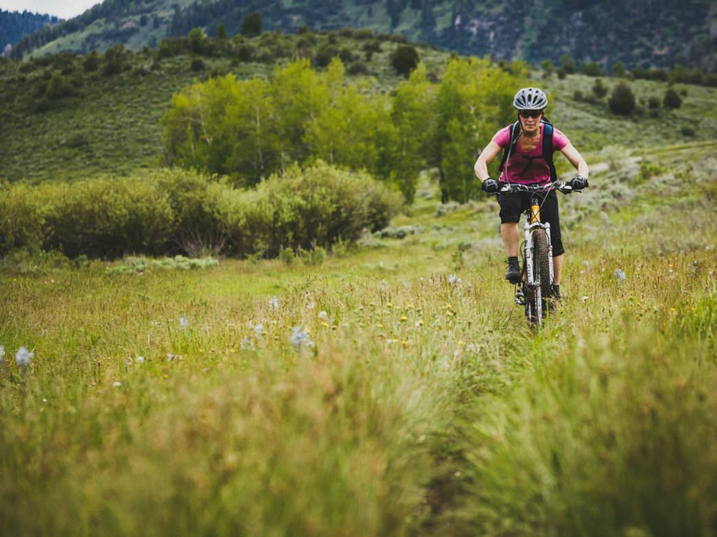 Jacki Arevalo riding Willow Creek Trail, Logan Canyon, Utah