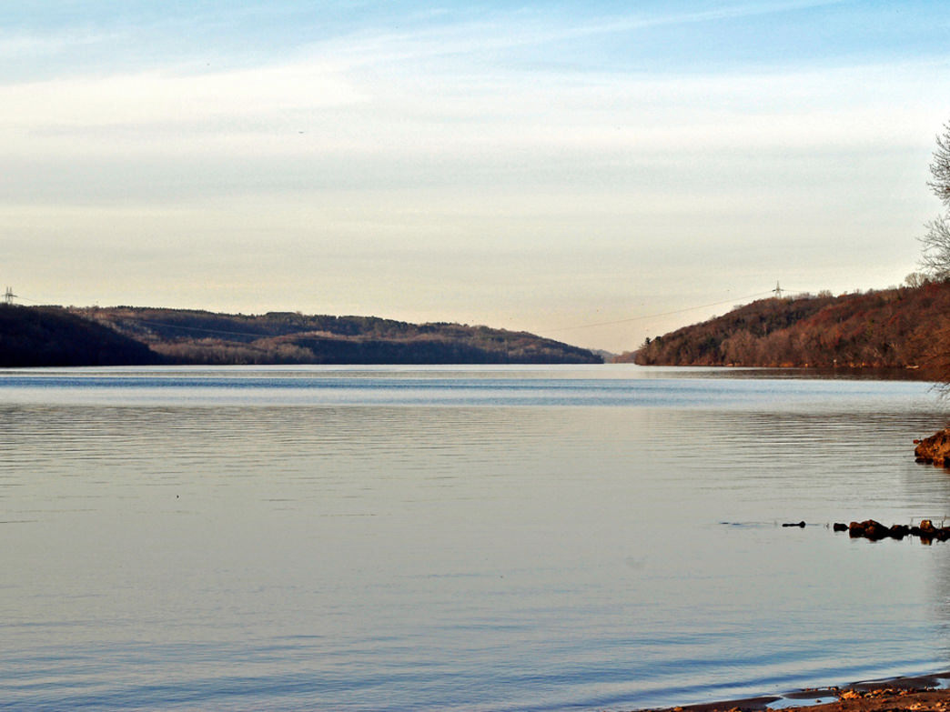 The St. Croix River in Kinnickinnic State Park.