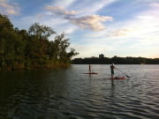 Paddling on Lake of the Isles at Sunset (2)