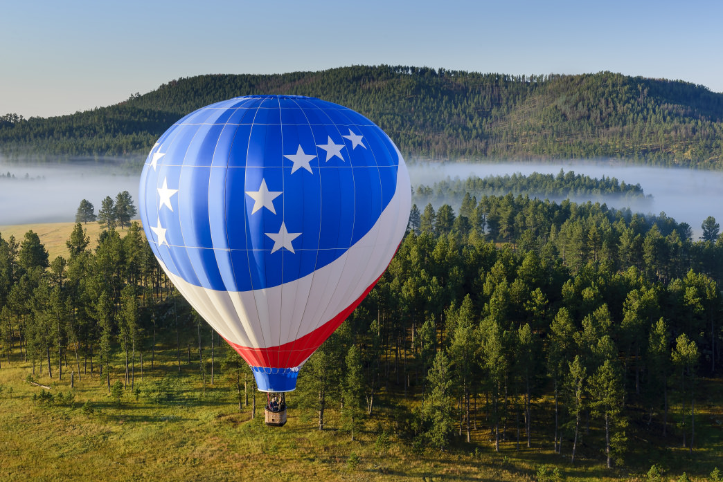 Some of the best views of the Black Hills can be found in a hot air balloon.