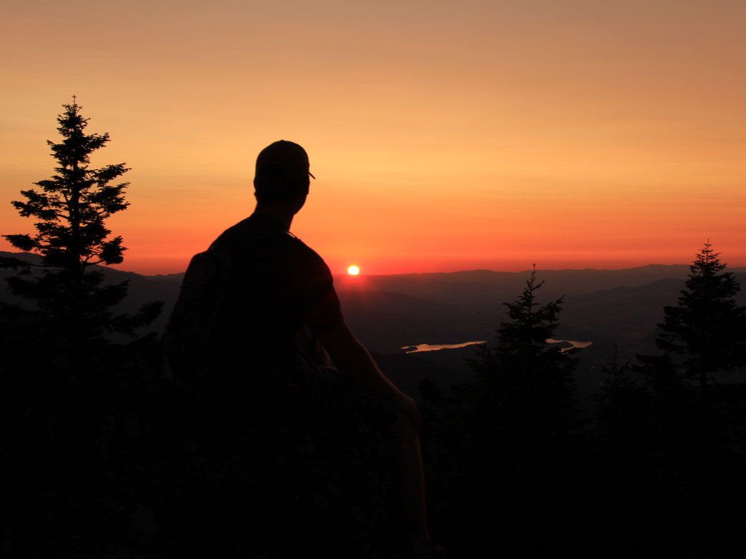Watching the sunset on Soda Mountain, Cascade-Siskiyou National Monument.
