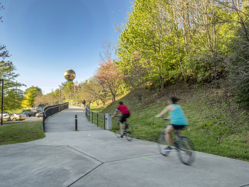 Second Creek Greenway in Knoxville, Tennessee.