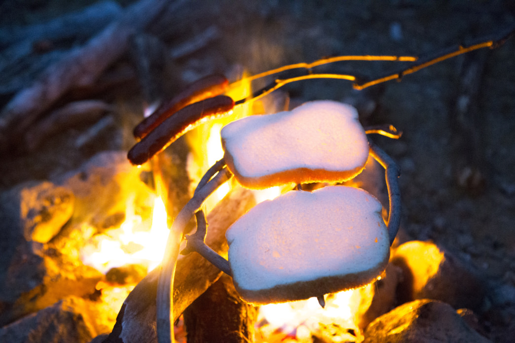 Food always tastes better cooked over a fire in the backcountry.