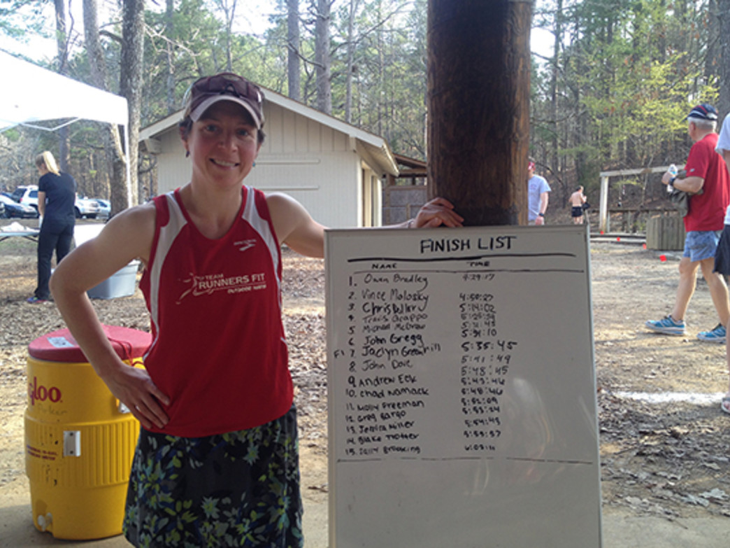 Freeman placed 11th in the Oak Mountain 50k.