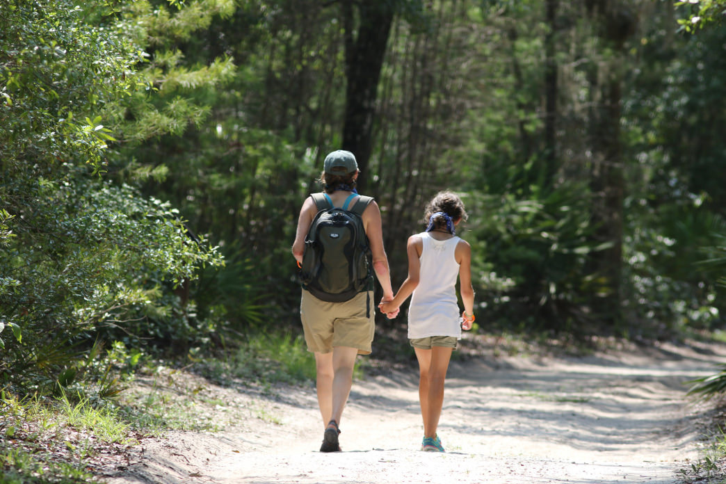 Hiking in the Bon Secour National Wildlife Refuge.