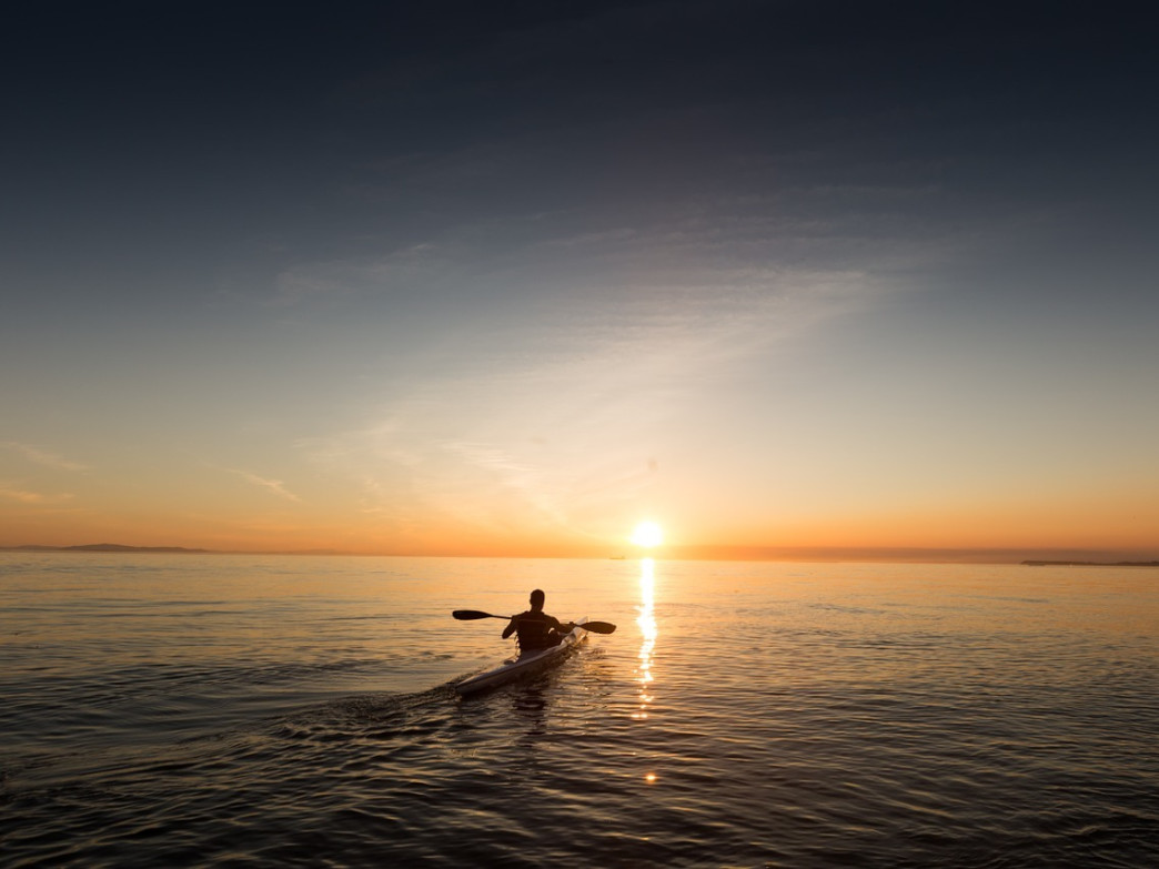 Paddle into the sunset at many of Portland's sublime coastal spots.