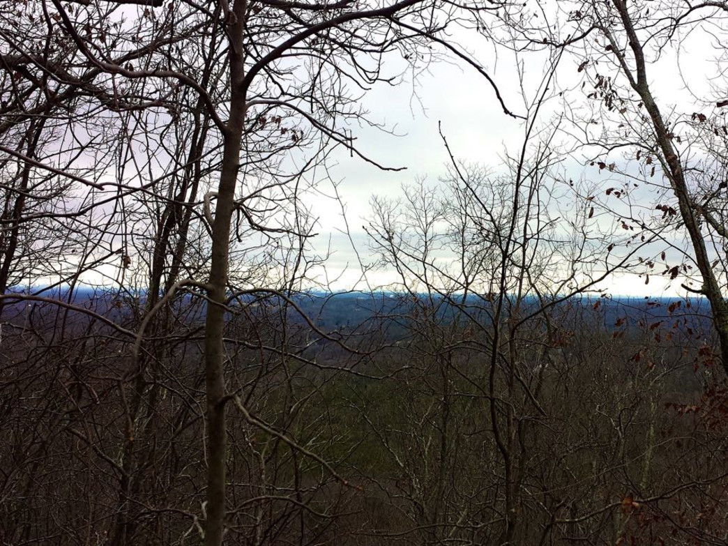 The Atlanta skyline in the distance from Little Kennesaw Mountain.