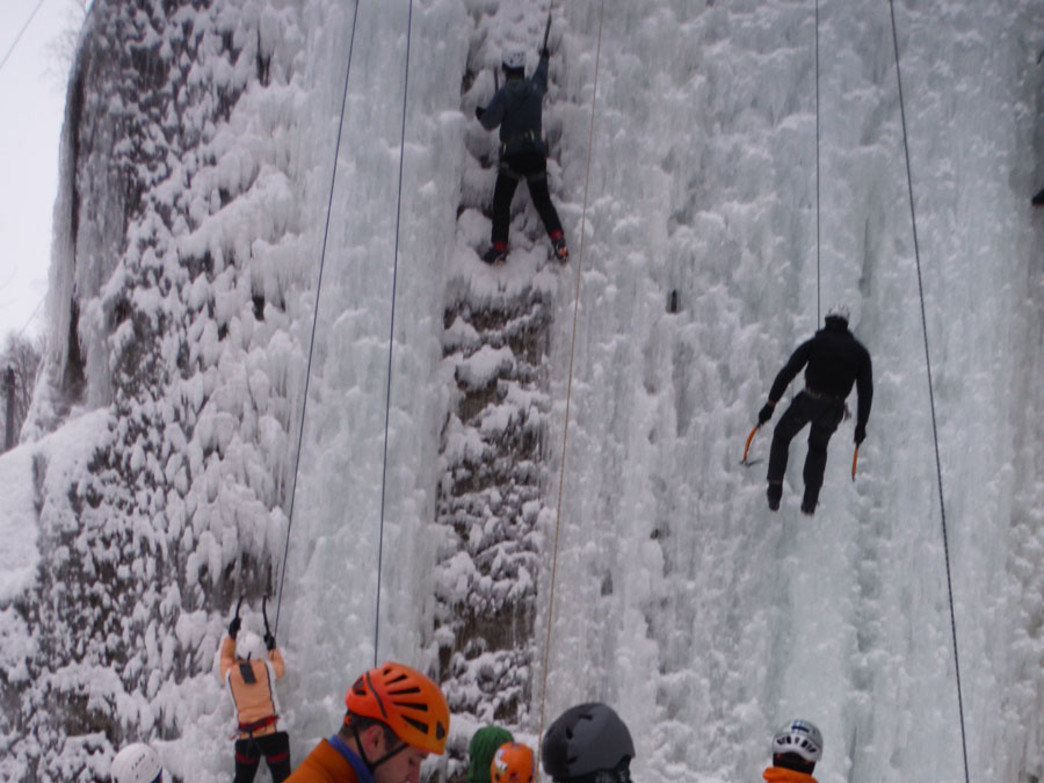 The Sandstone Ice Festival has traditionally kicked off the winter climbing season, but warm temperatures caused the cancellation of the festival this year.