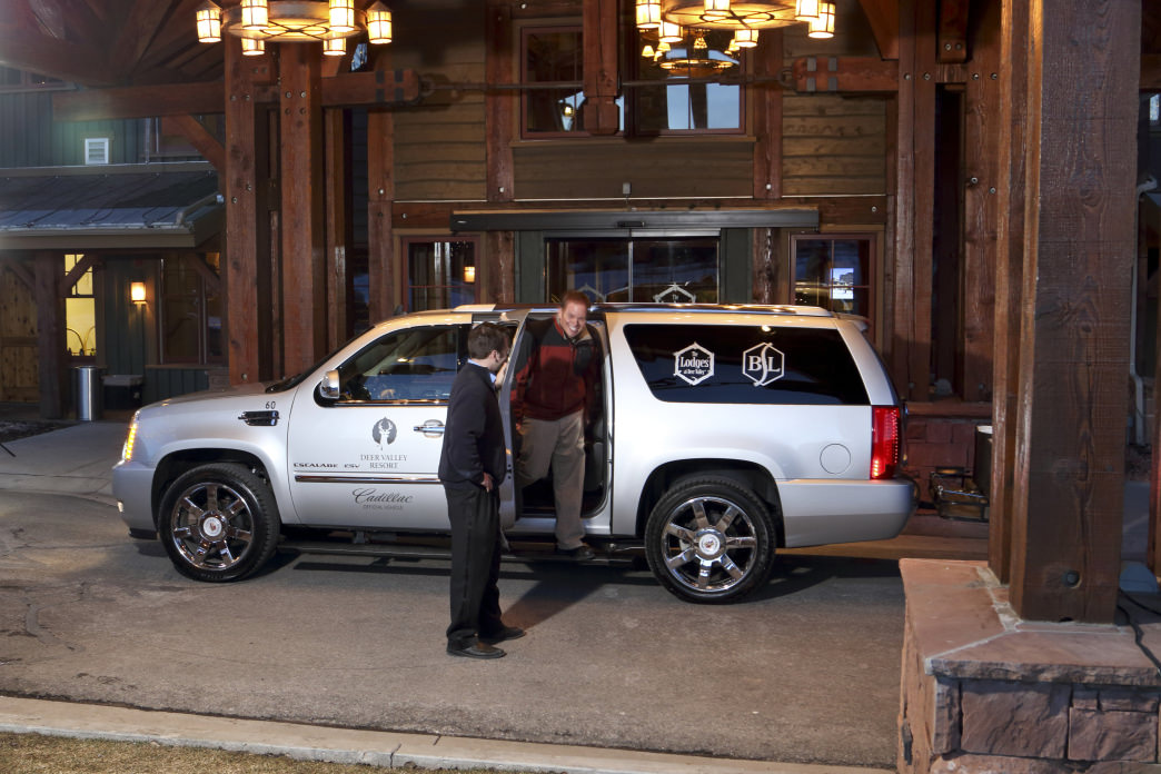 You'll find Cadillac shuttle service at Deer Valley Resort.