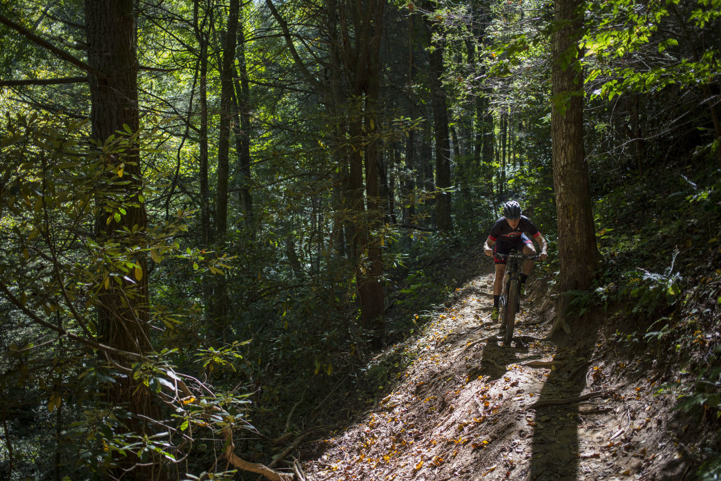 The Kitsuma Trail in the Pisgah National Forest is a super challenging loop that some say is the best ride in the area.     Jeff Bartlett
