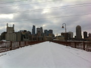 Stone Arch Bridge in Winter