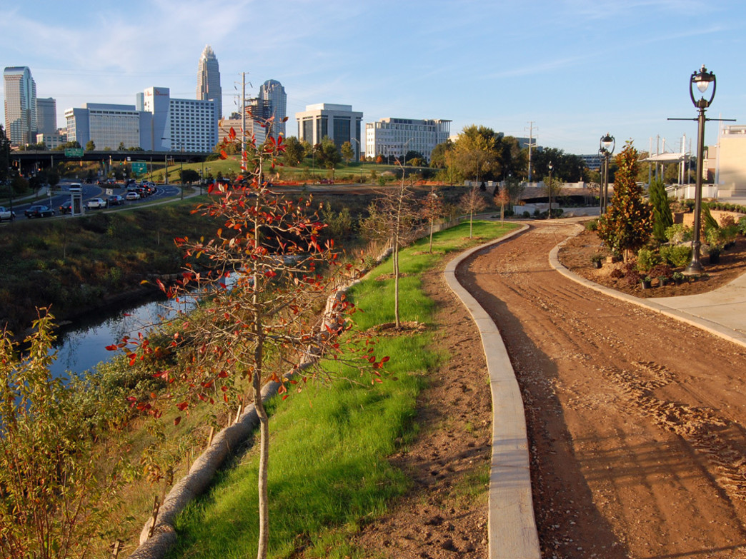 Charlotte's extensive greenway system is a great antidote to injury that results from sitting too long.