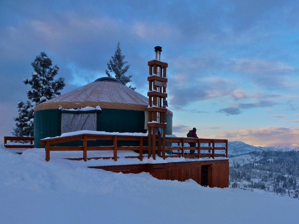 This yurt is in Boise, but there are plenty of great ones in Utah, too.