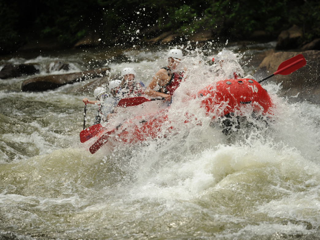 You can't help but smile going through rapids like these on the Ocoee.