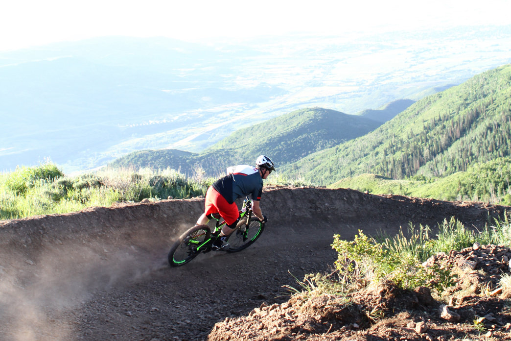 """Nail Driver,"" a friendly singletrack updated in 2015, is the main artery of Deer Valley's trail network."