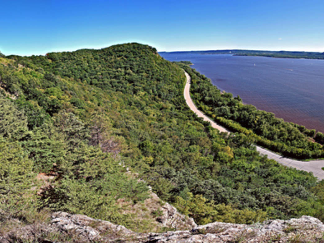 A view from the Maiden Rock Bluff State Natural Area.