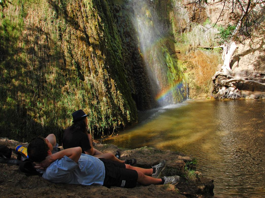 Relaxing at Escondido Falls