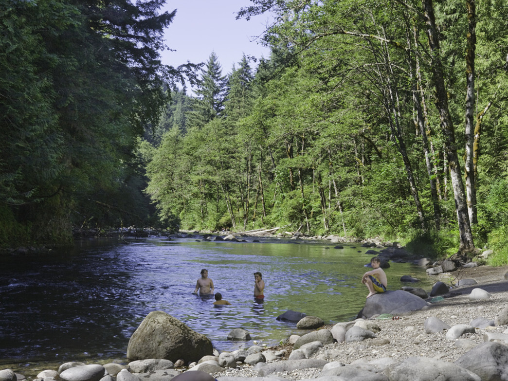 The Salmon River has numerous secluded swimming holes along its banks.