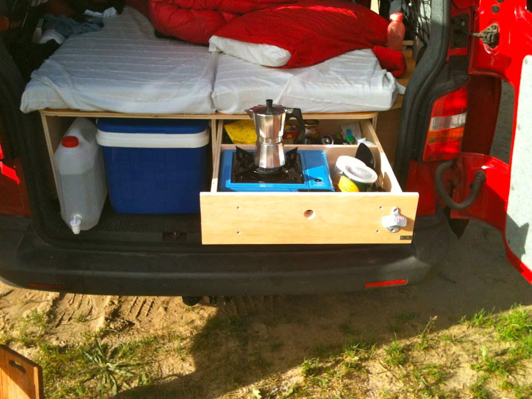 Equip and pack a camper van according to your personal taste and need.