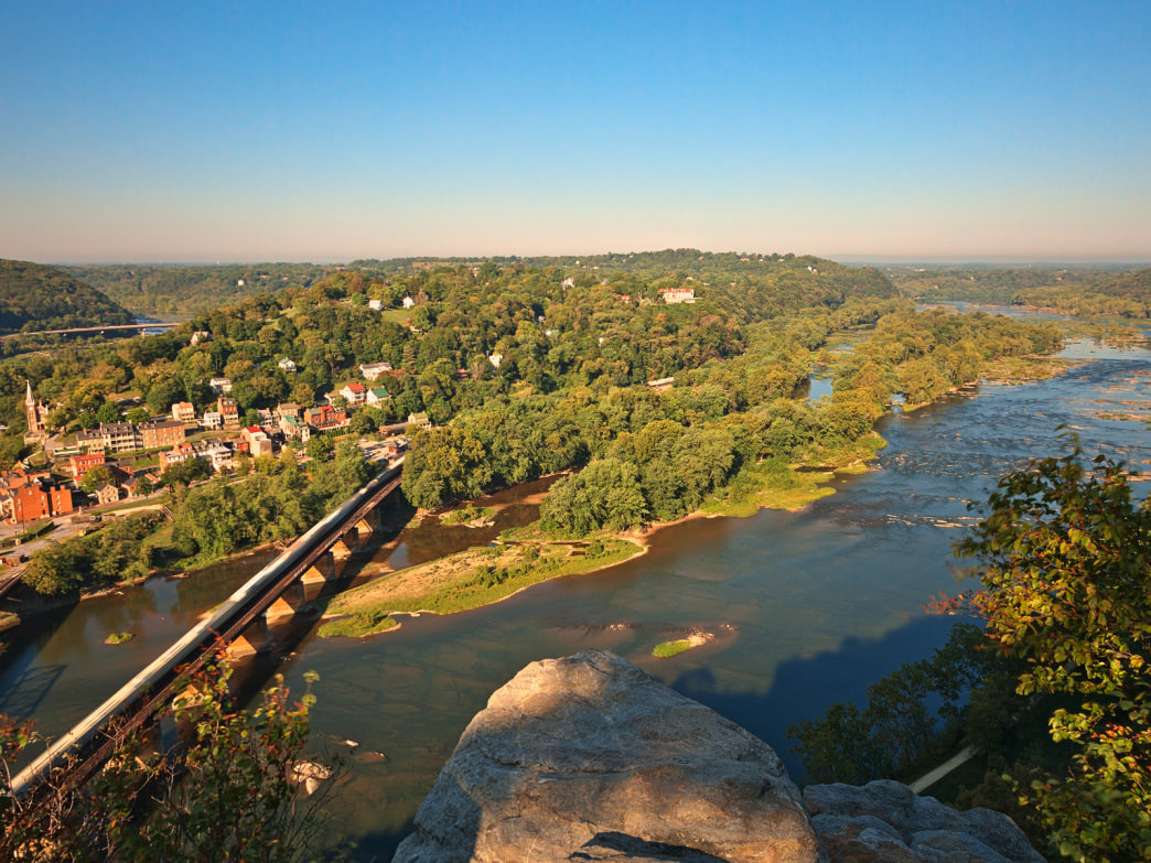 View from atop Maryland Heights, West Virginia.