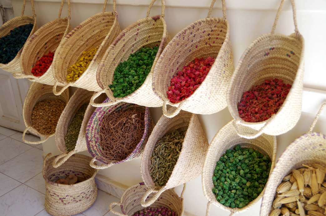 Morocco food and spices