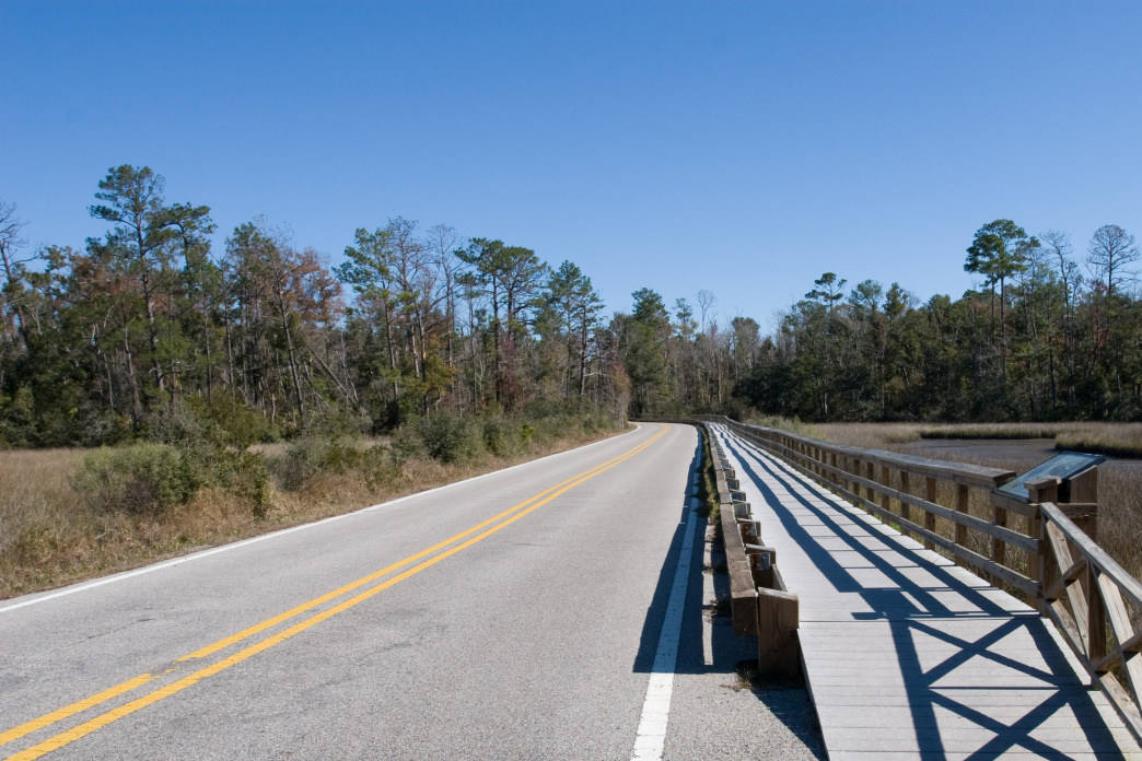 You'll find lots of scenic roads for cycling on the Mississippi coast.