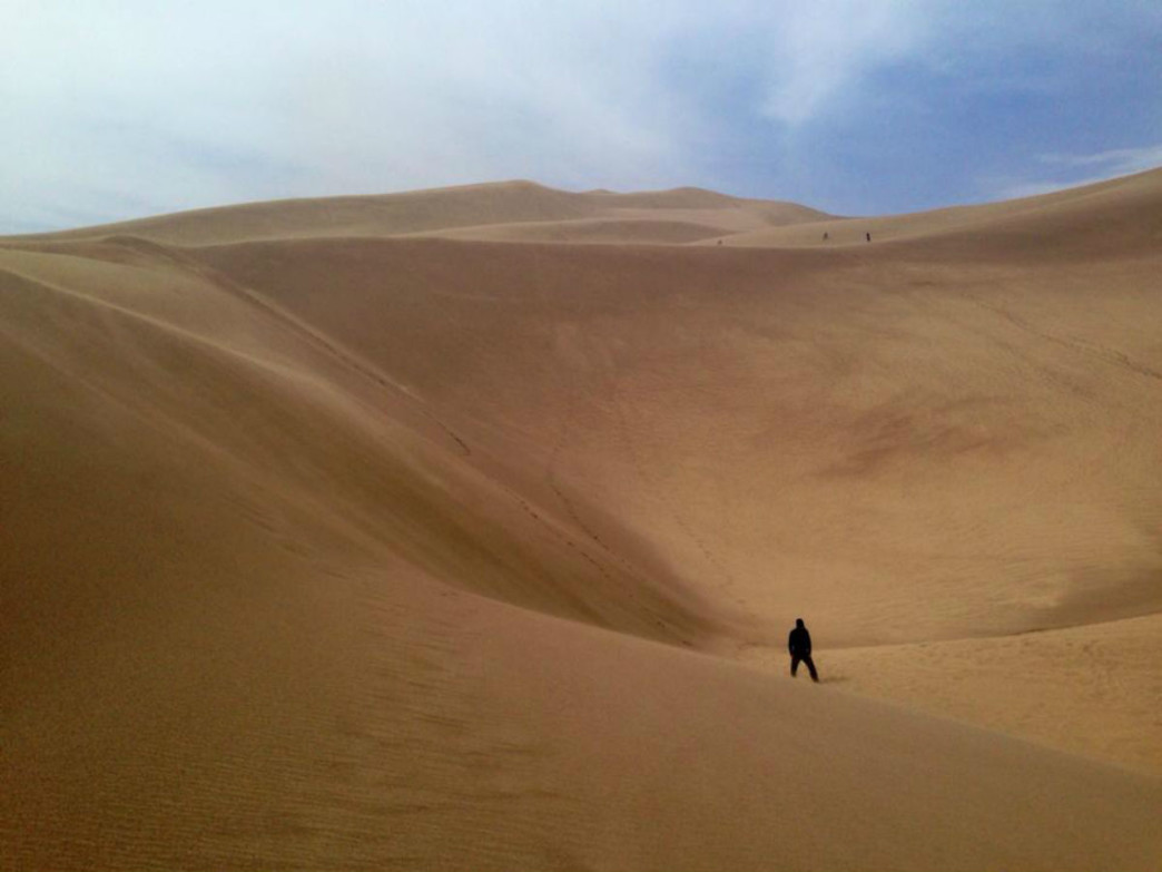 Most people come to the park to hike around on the dunes.