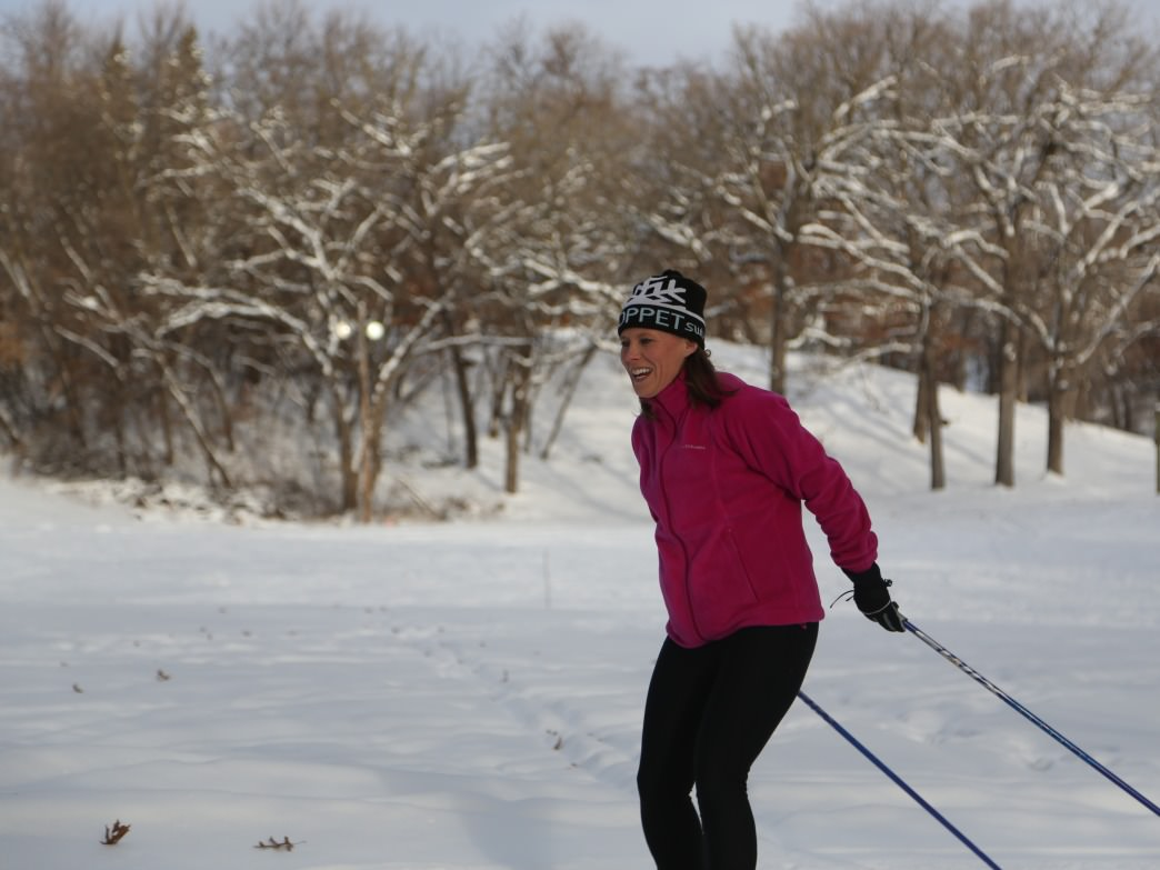 Enjoy more than 15 miles of trails groomed for cross-country skiing at Theodore Wirth Park.
