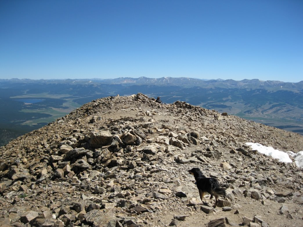 Views from the summit of Mount Elbert.