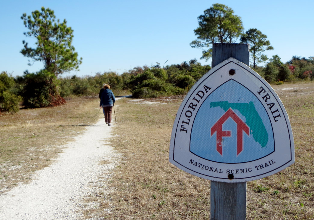 The Eastern Continental Trail begins, or ends, on the 1,100-mile long Florida Trail.