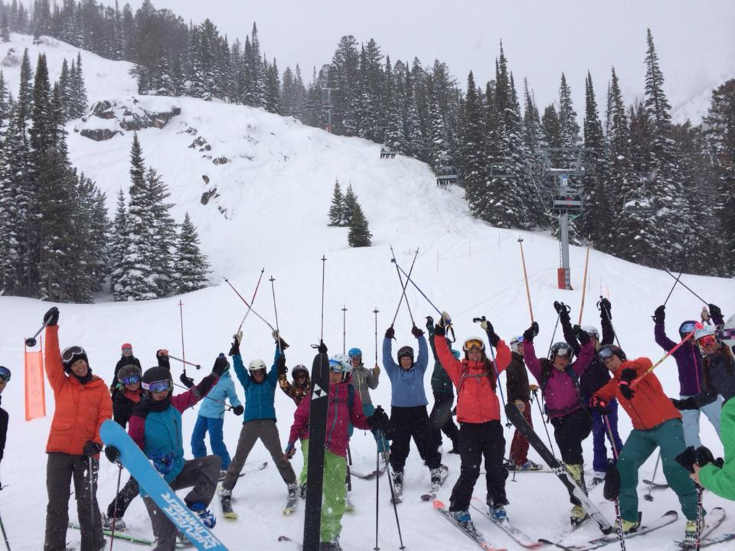 Camaraderie and companionship on the slopes is a huge appeal of the group.
