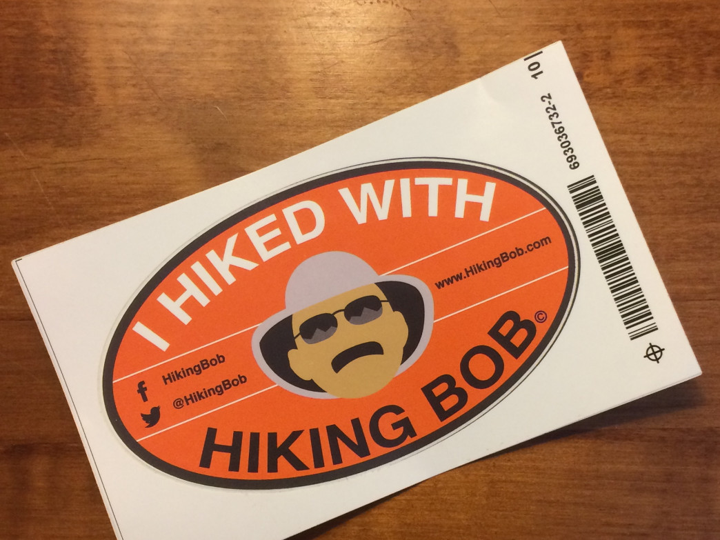 Head out on the trails with Bob to earn your own sticker.