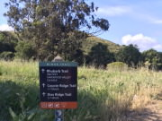 Trailhead sign at Miwok