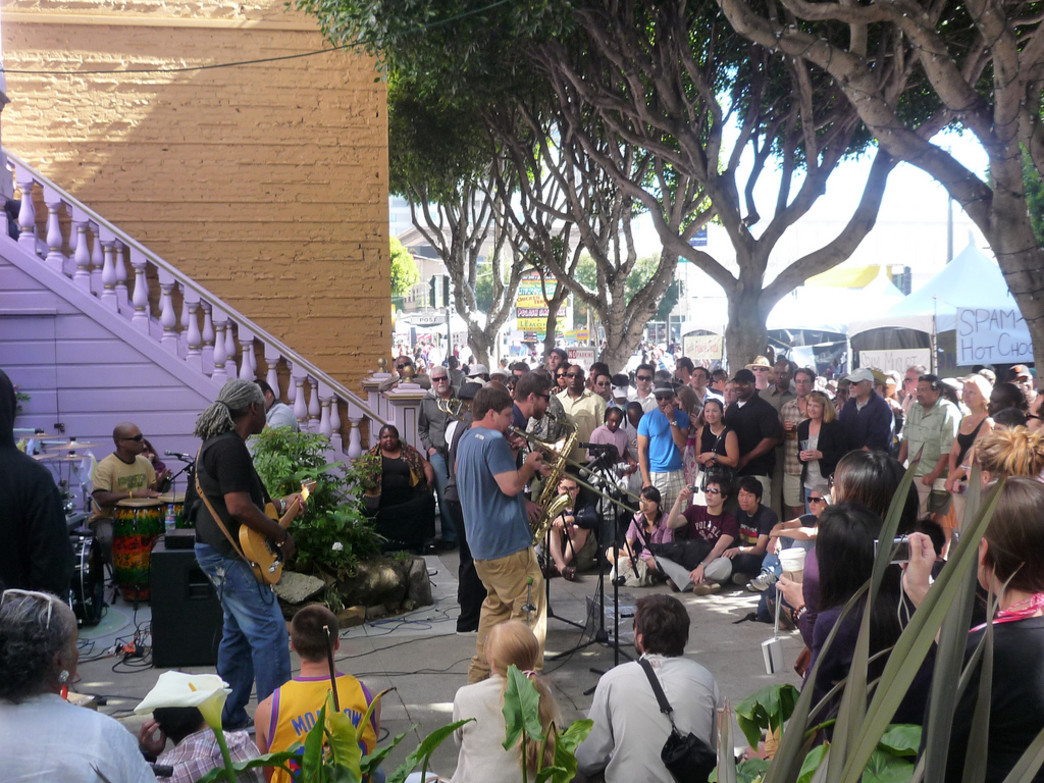 This free festival offers live performances throughout the weekend.