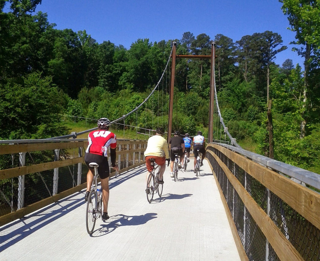The Neuse River Trail is well known for its variety of bridges and the beautiful views they offer.