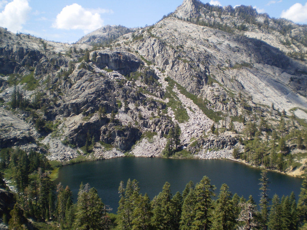 Eagle Lake as seen from the trail above.