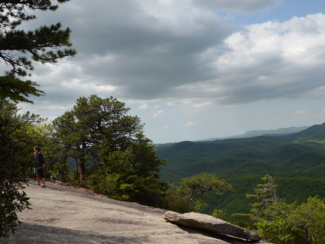 Enjoying the views from Looking Glass Rock.