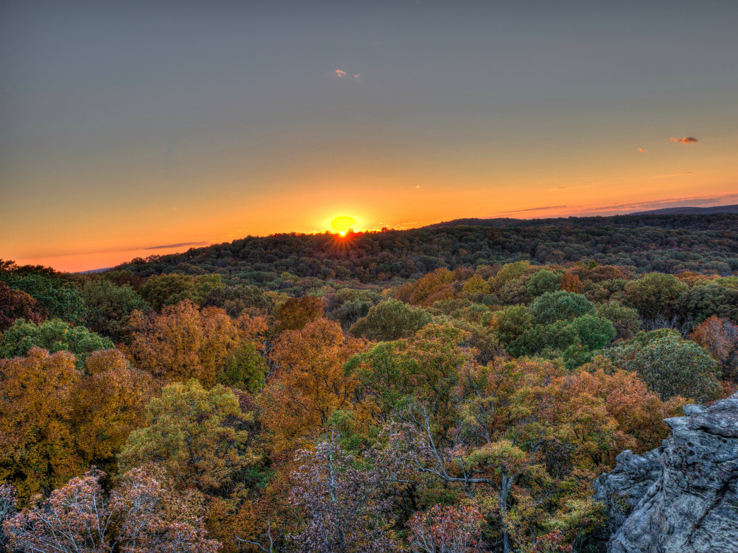 Garden of the Gods in the Shawnee National Forest looks unlike anything else in Illinois.