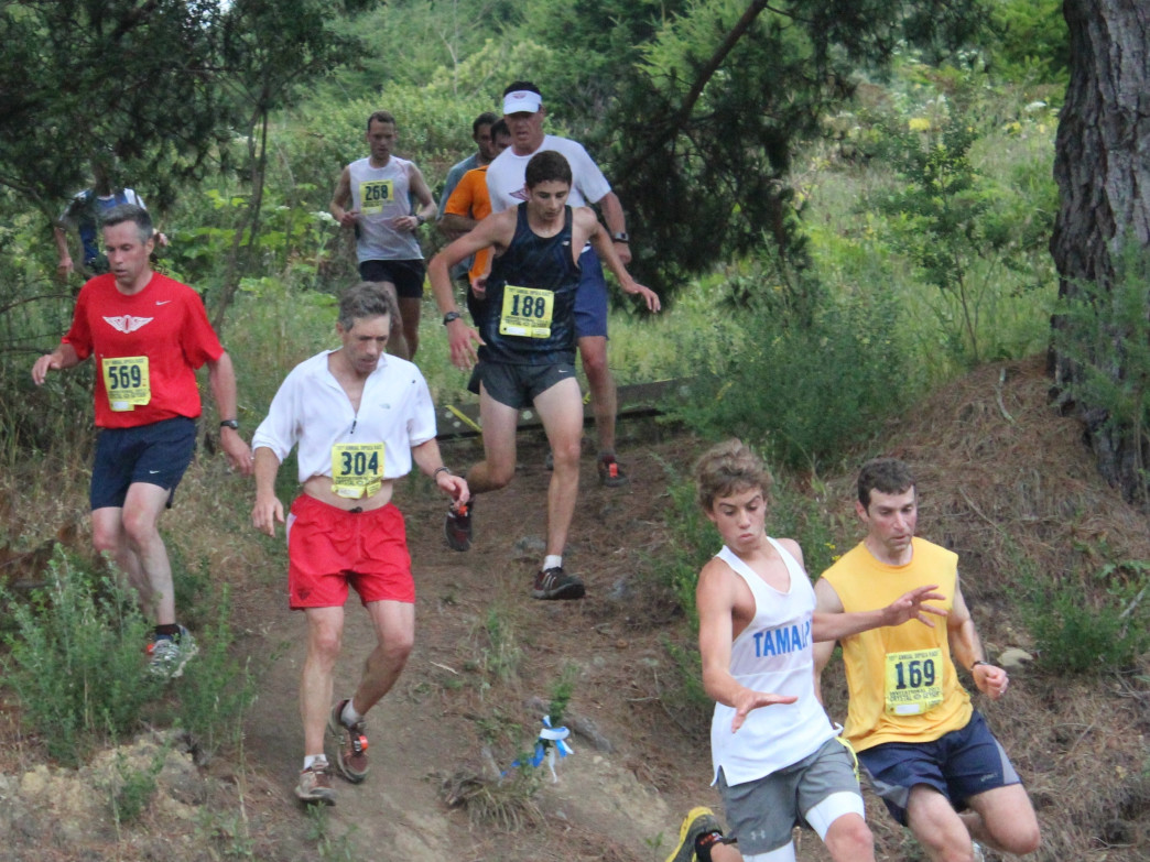 Falls are a common occurrence in the Dipsea Race.