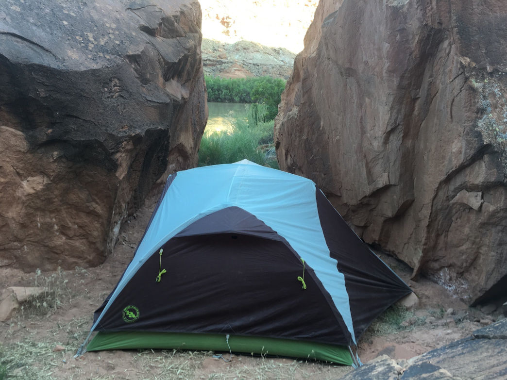 When pickings are slim, you might have to slip your tent into a tight site.
