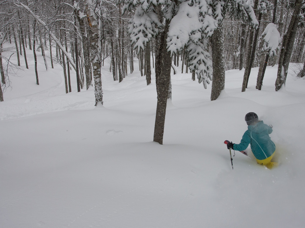 There's no better place to be at Sunday River than its glades on a powder day.