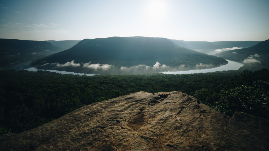 Snoopers Rock is especially beautiful at sunrise.     Lauren Brooks