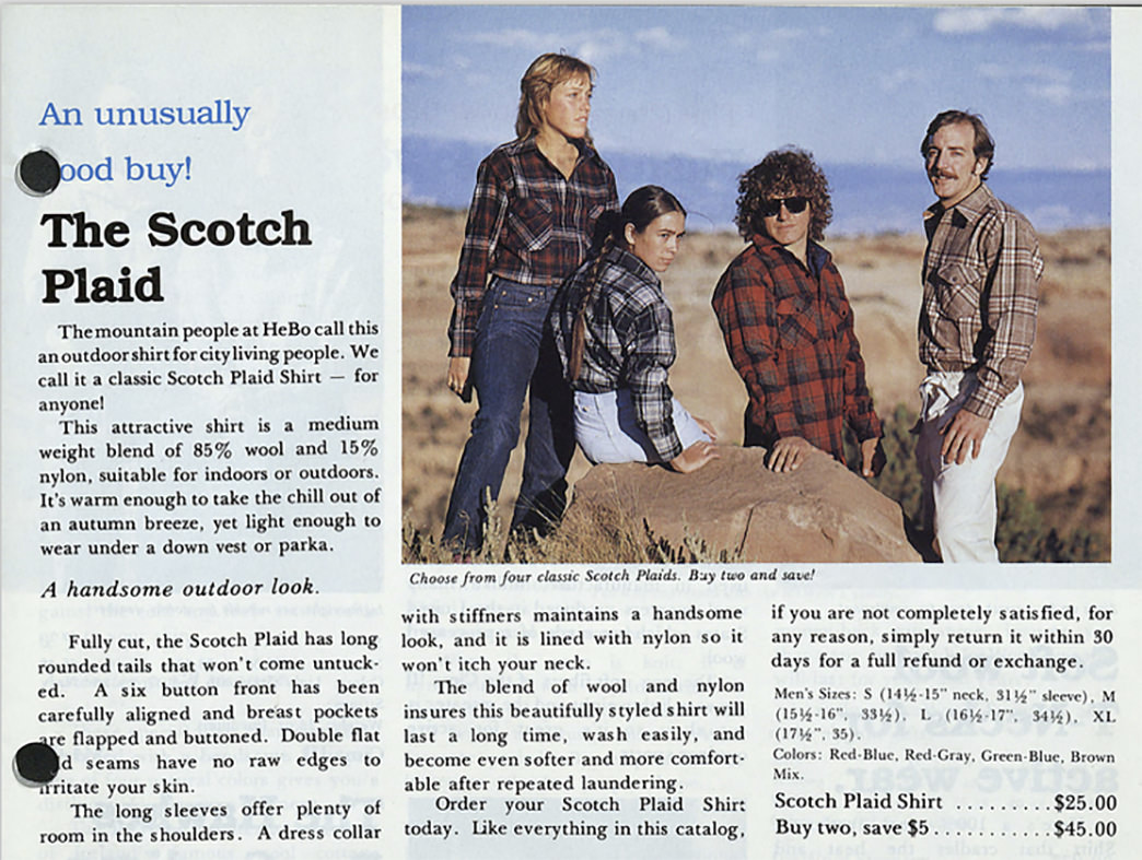 The Marmot Fall 1979-1980 catalog perfectly captured flannel's changing nature.