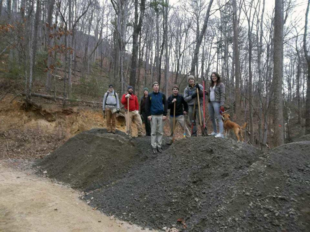 DRAFT crew on top of 100 tons of gravel