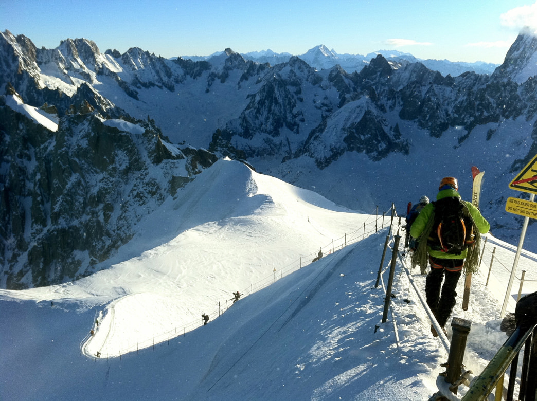 Vallee Blanchée in Chamonix is one of the most famous off-piste routes in the world.