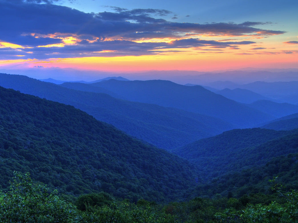 The Great Smoky Mountains in all their splendor.