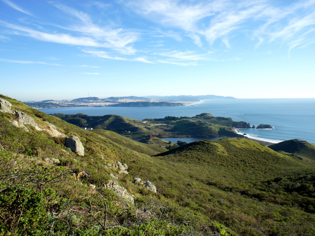 San Francisco visible from the Miwok Trail.