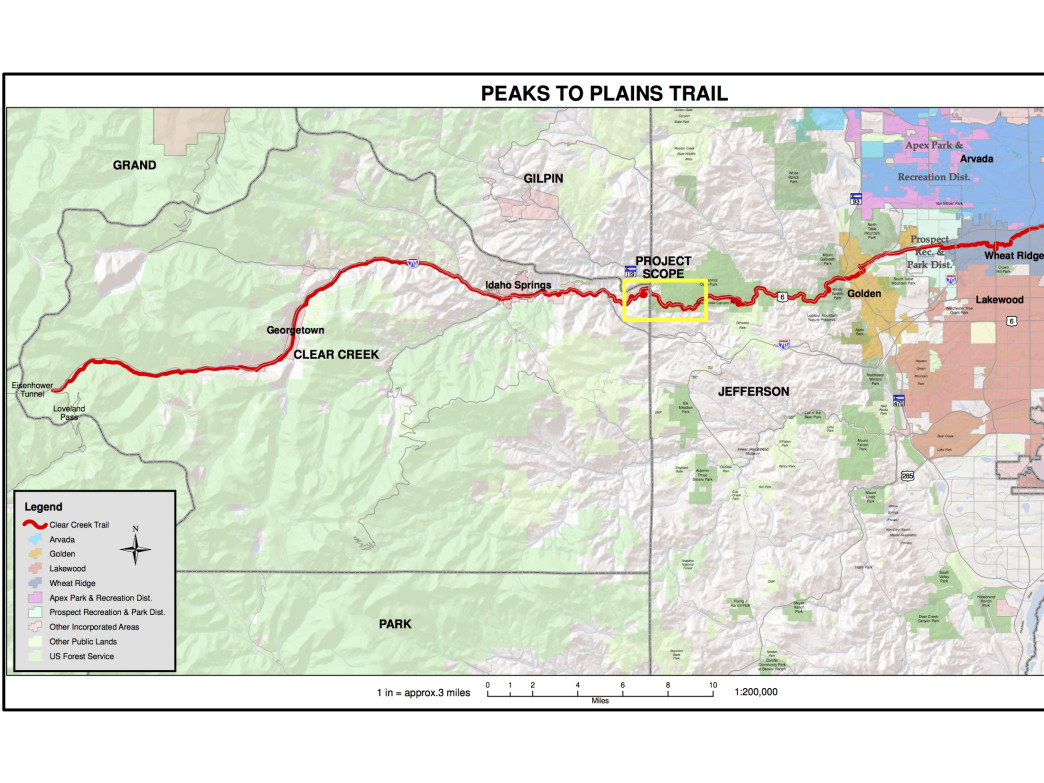 Jefferson County Open Space is working on a 6-mile segment of the Peaks to Plains Trail, which will connect Denver to Loveland Pass.