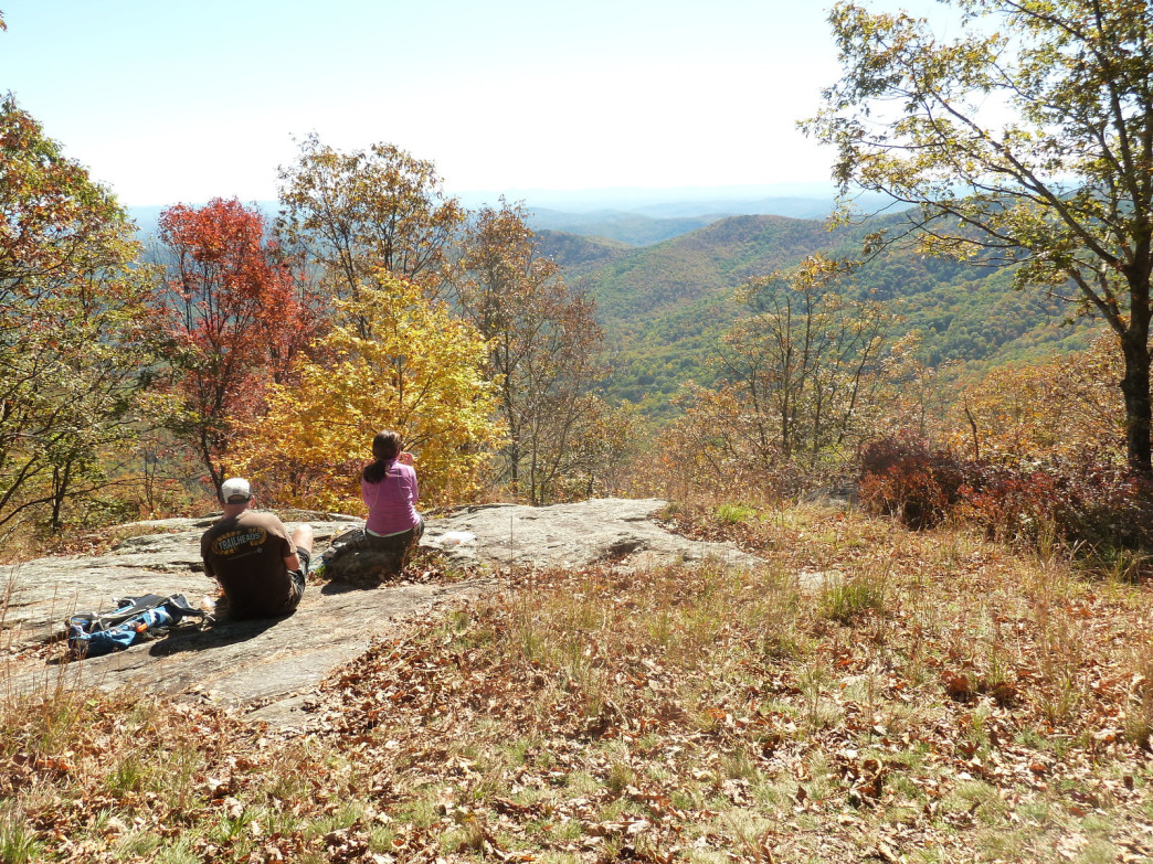 Located on the Blue Ridge Parkway, Doughton offers distant views of the Carolina mountains.