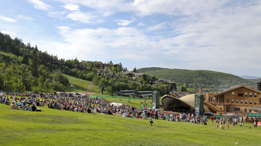 Attend one of the free Wednesday night concerts at Deer Valley's Snow Park Outdoor Amphitheater.